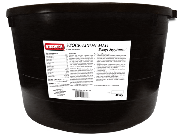 Stock-Lix® Hi Mag Poured